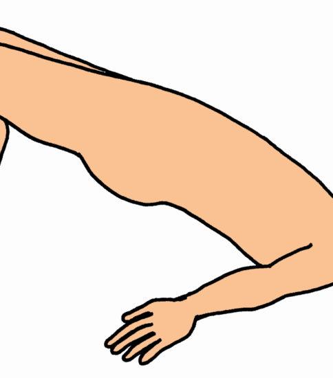 ブリッジ運動 ヒップアップ運動(臀部の挙上)