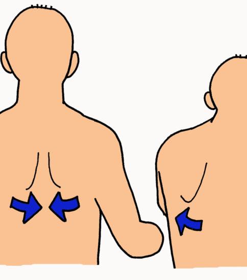 肩甲骨の内外転運動