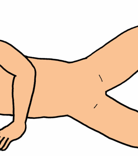 股関節外旋筋群の筋力強化(側臥位)