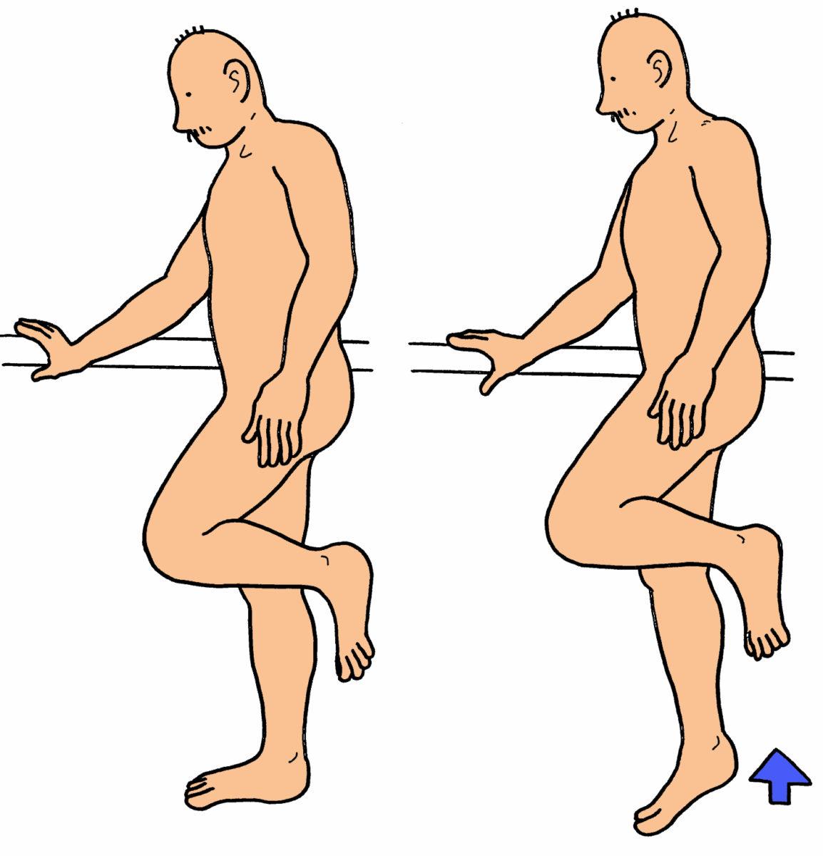 下腿三頭筋の筋力強化(片脚バージョン)