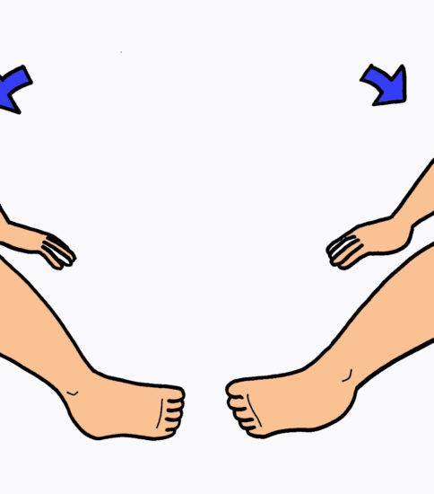四つ這いでの体幹回旋運動(ストレッチ)