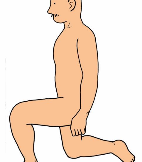 膝立ち位~片膝立ち位のステップ練習