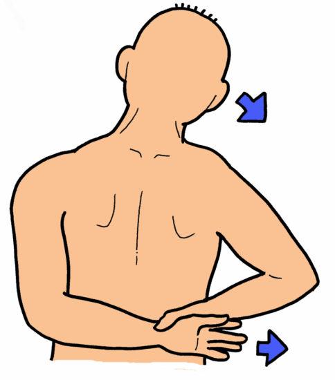 肩外側・前面のストレッチ