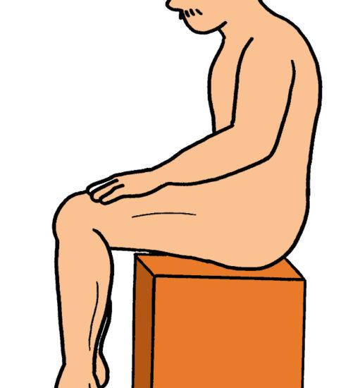 カーフレイズ/足関節底屈運動(座位バージョン)