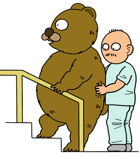 理学療法のイラスト(階段昇降のイラスト)