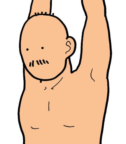 呼吸筋のストレッチその2(息を吐く呼吸筋のストレッチ)