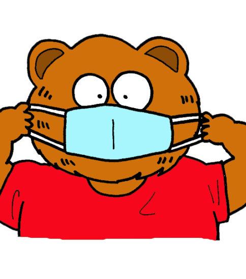 マスクのイラスト(花粉症・インフルエンザのイラスト)