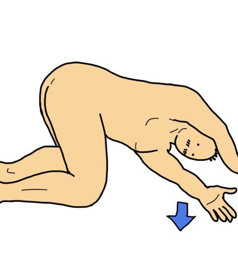 肩関節外側部のストレッチ