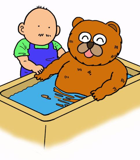入浴介助のイラスト