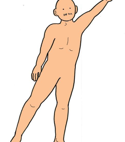 片脚立位バランス練習(肩・股関節外転運動を伴う)