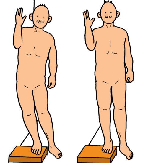 中臀筋の筋力強化訓練(壁を使った収縮のタイミング)