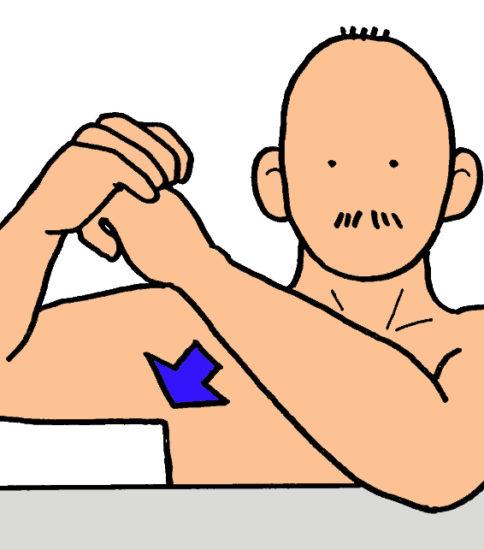 肩の内旋ストレッチ(サードポジション)