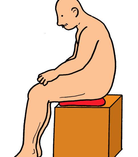 骨盤の前傾・後傾エクササイズ(バランス・ディスク使用)