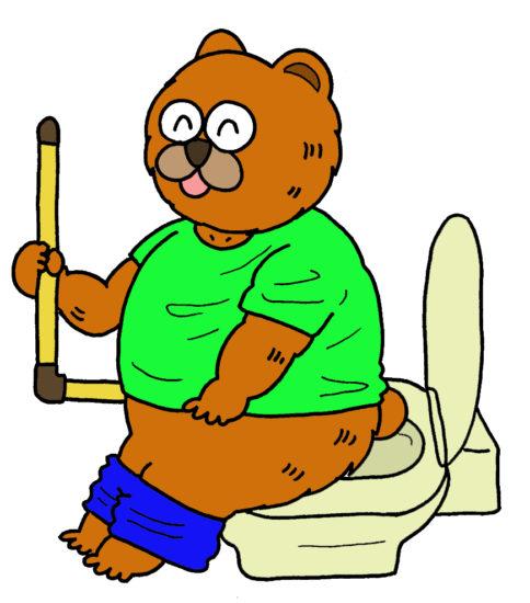 トイレ動作のイラスト