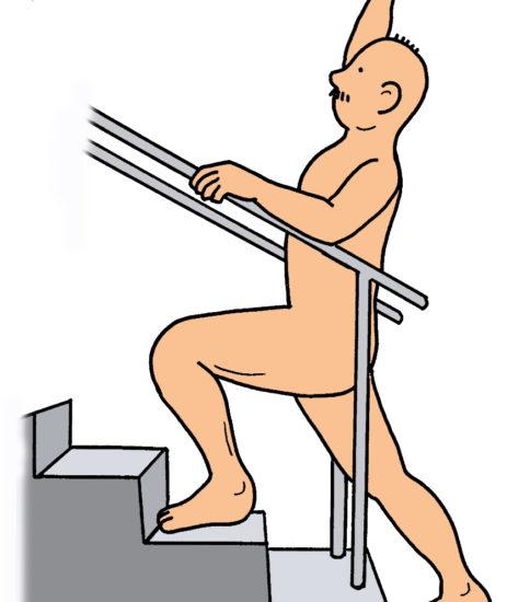 階段・段差を用いたストレッチ方法