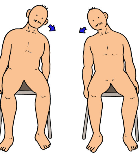 肩関節包、僧帽筋のストレッチ