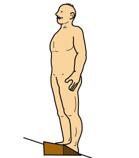 傾斜板を使用した下腿三頭筋(腓腹筋)のストレッチ