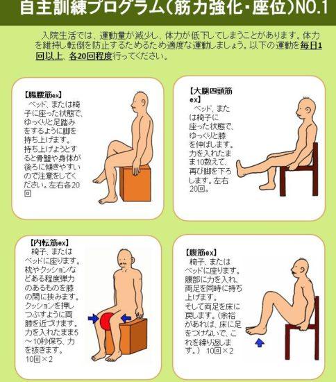 自主訓練プログラム(臥位・座位・立位編)