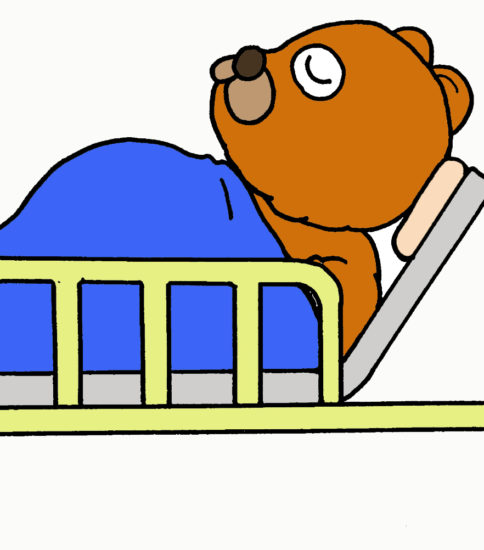 安静度を表すイラスト(ベッド周囲のイラスト)