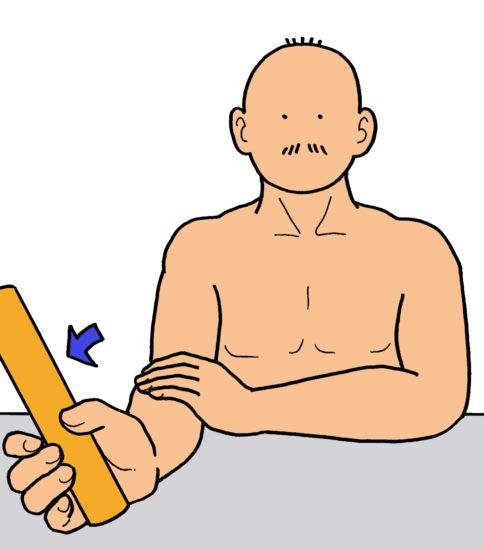 前腕回内・回外運動をイラストでご紹介