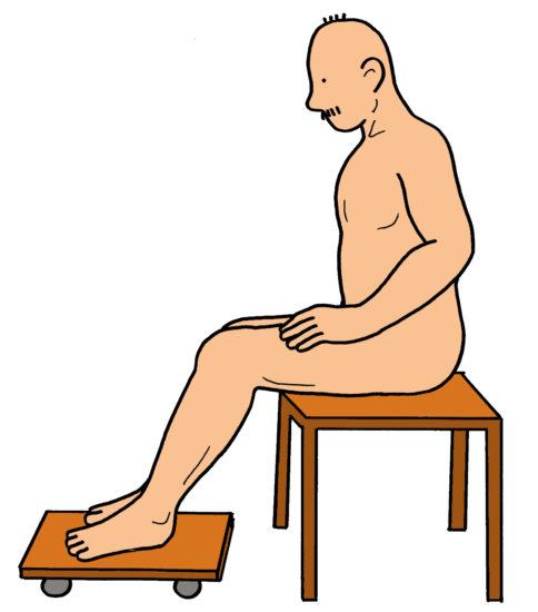 膝屈曲エクササイズ(台車)