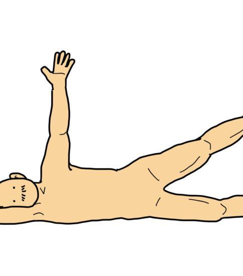側臥位バランス(失調のリハ)