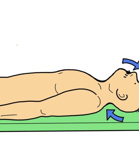 頸部後面の筋力トレーニング(首下り症候群の予防)