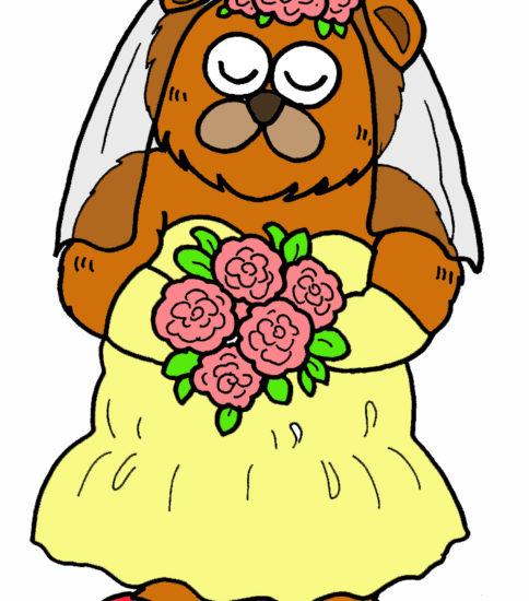 結婚式✖︎クマのイラスト③