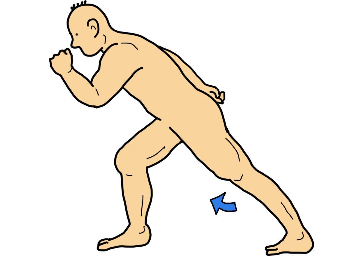 股関節の屈伸運動(片足立位での対側下肢の屈伸運動)
